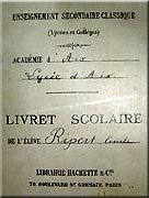 School booklet from 1896 to 1900
